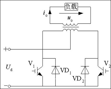 变压器匝比为1:1:1时,uo和io波形及幅值与全桥逆变电路完全相同.