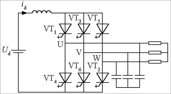 电流型三相桥式逆变电路