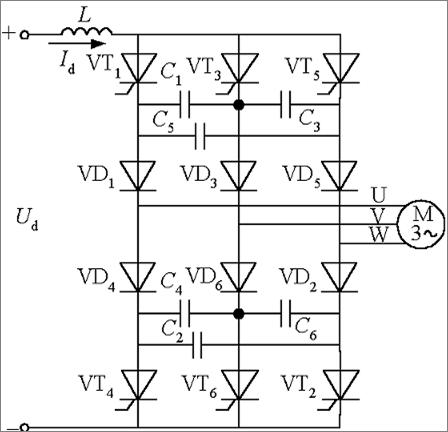 三相电流型逆变电路分析